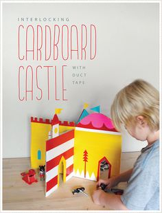 Mer Mag Interlocking Castle by mer mag, via Flickr #cardboard #ducttape