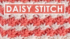 This pretty vintage Daisy Stitch brioche knitting pattern is a Repeat and the design really pops when you use 2 yarn colors. Knitting Stiches, Easy Knitting, Loom Knitting, Knitting Patterns Free, Crochet Stitches, Stitch Patterns, Crochet Patterns, Free Pattern, Crochet Video