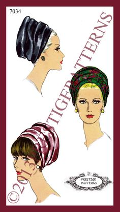 1960s Vintage Unique Millinery TURBAN Hat by APRESTIGEPATTERNS