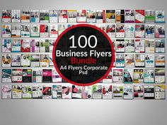 100 Creative Business Flyers Bundle by Psd Templates on @creativemarket