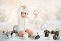 "Little ""D"" Visiting the Studio - Seattle Children Photography. Winter children picture ideas and inspirations."