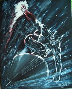 painting i did of silver surfer from marvel comics