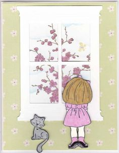Girl Looking Out by vegasgem - Cards and Paper Crafts at Splitcoaststampers