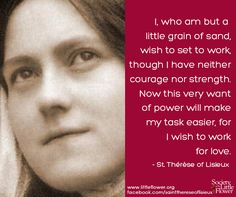 St. Therese Daily Inspiration: A Little Grain of Sand