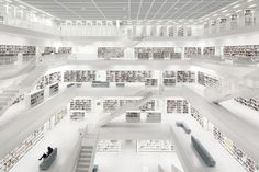 Bibliothek Stuttgart with woman - Limited Edition Print  | Luxury Photograph | Luxify
