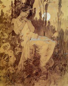 Moonlight, Alphonse Mucha