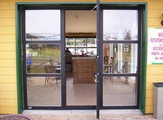 walk through garage door. Glass Garage Door With Pedestrian Walk Through JPR Inc.