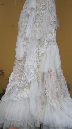made for you to say i do....vintage inspired bohemian dress made from a ton of love....