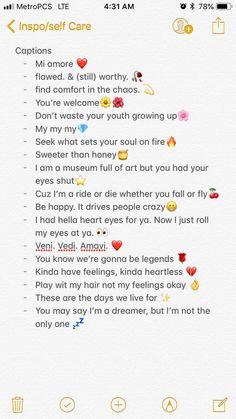 Captions for social media Instagram Captions Boyfriend, Instagram Picture Quotes, Instagram Captions For Selfies, Photo Quotes, Instagram Captions Friendship, Cool Instagram Bios, Lit Captions, Selfie Captions, Captions For Photos