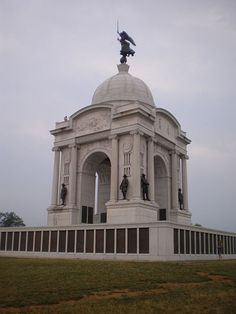 (Pennsylvania Memorial - one of the state monuments at Gettysburg Battlefield). Gettysburg Battlefield is the area of the July 1-3, 1863 military engagements of the Battle of Gettysburg within and around the borough of Gettysburg, Pennsylvania.
