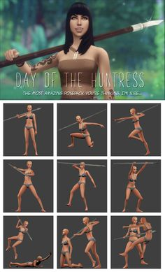Day of the Huntress - pose pack| candycottonchu auf Patreon Sims 4, Die Sims, Special Gifts For Her, Facial Expressions, Couple Posing, Dear Friend, Packing, Poses, Couples