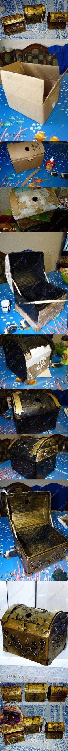 DIY Cardboard Jewelry Treasure Box DIY Projects