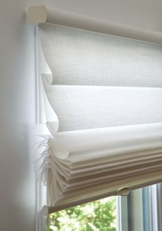 sheer romaqn shades   Vignette Tiered Roman Shades by Campbell's Contract Interiors!