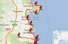 Trail Running Holidays Map Costa Brava