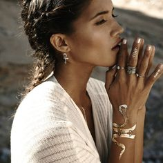 Desert Dweller Flash Tattoos with Torchlight Jewelry Astra rings