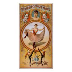 Poster do VAUDEVILLE de CircusAct do francês do TR