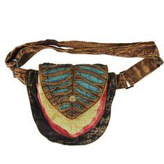 Peter Pan Cotton Fanny Pack (Nepal)..Do Not wear as a fanny pack, Drape it over your shoulder as a day bag!