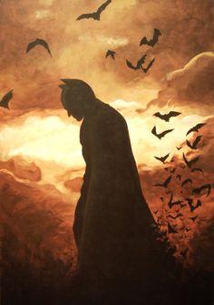 batman painting - Google Search