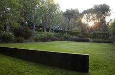 Bonhill Residence by Pamela Burton Sloped Backyard, Sloped Garden, Garden Pool, Terrace Garden, Flower Landscape, Landscape Walls, Landscape Architecture, Landscape Design, Formal Gardens