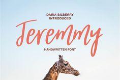 Jeremmy handwritten font by Daria Bilberry on @creativemarket
