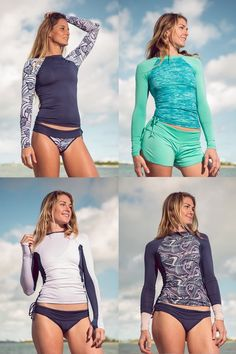 Hundreds of new looks updated every day! Camisa Uv Feminina, Swim Shirts For Women, Toddler Swimming, New Yorker Mode, Summer Outfits, Cute Outfits, Mode Blog, Outfits Damen, Bohemian Mode