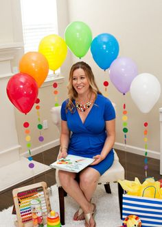 Rainbow Balloon Backdrop - Baby Shower