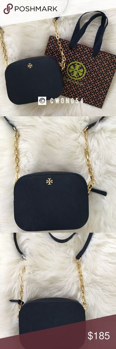 1c520f240559 NWT Tory Burch Emerson Round Crossbody Bag New with tag. Comes with gift bag.  Color is Royal Navy