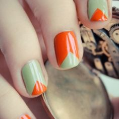 10 Nail Tutorials Even a Newbie could do, like using scotch tape to get this cute look (via Pshiiit).