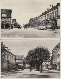 Ebenrode/Ostpreussen, Goldaper- und Rathausstrasse.