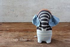 Sew sock elephant by using this ultimate sewing pattern and tutorial. Easy to sew with guide from pictures and instructions. Great as handmade gift Elephant Stuffed Animal, Sewing Stuffed Animals, Stuffed Animal Patterns, Sock Elephant Pattern, Elephant Socks, Elephant Crafts, Crochet Baby Cocoon, Softie Pattern, Sock Crafts
