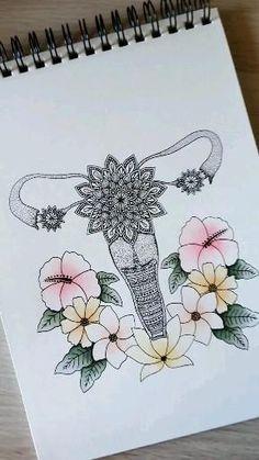 Realistic Hair Drawing, Mom Drawing, Flower Art Drawing, Mandala Drawing, Pencil Art Drawings, Cool Art Drawings, Colorful Drawings, Art Drawings Sketches, Mandala Art Lesson