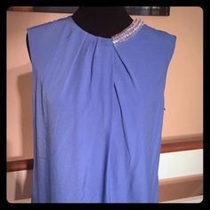 Blue 3.1 Philip Lim dress Blue 3.1 Philip Lim dress with accented neckline beading on left side.  Never worn and in perfect condition.                                             TRADES PAYPAL ✅DISCOUNTS ✅FAIR OFFERS 3.1 Phillip Lim Dresses