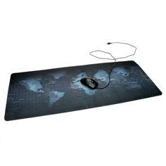 900x400x3mm Oversized Thicker Non-slip Bottom World Map Mouse Pad Mat For Laptop Computer