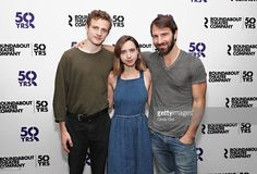 Actors Ben Rosenfield, Zoe Kazan and Alex Hurt attend Roundabout Theatre Company's 'Love, Love, Love' cast photocall on August 2016 in New York City.