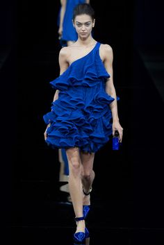 Electric Barbie  Emporio Armani Spring 2015 Ready-to-Wear - Collection - Gallery - Style.com
