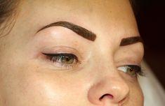 Powdered brows &  top eyeliner permanent makeup ...