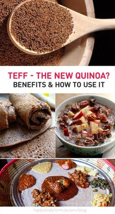 "What the heck is teff? I'm glad you asked. By now, you've probably heard all about quinoa. Y'know, the ""grain"" that's actually a seed? It's touted as a superfood of sorts due to the fact that it's a plant protein containing all of the essential amino acids and it's gluten-free. Let us tell you all"