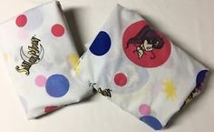 Vtg 1995 Sailor Moon Twin Flat Fitted Bed Sheets Cutter Quilt Fabric 2 Pieces  | eBay