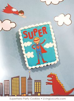 Superhero Party Cookies by Sweetopia for @Amy Lyons Lyons Locurto {LivingLocurto.com}