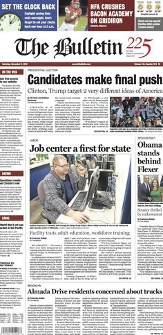 Saturday, November 5, 2016 - Subscribe to The Bulletin today: http://www.norwichbulletin.com #ctnews #newlondoncounty #windhamcounty