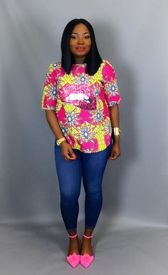 Top imprimé africain vêtements africain tissu africain