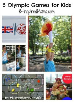Have you been watching the Olympics with your kids?  There's still time to play some fun Olympic games.  Here are 5 simple Olympic Games for Kids at B-InspiredMama.com.