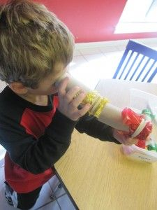 This past week the children explored their sense of touch taste smell sight and hearing. Let me show you what the children found in the sense of sight discovery center Two Years Old Activities, 5 Senses Activities, Horton Hears A Who, Sense Of Sight, Two Year Olds, Sensory Play, Teach Preschool, Preschool Ideas, Craft Ideas