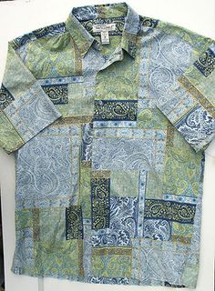 TORI RICHARD made in Hawaii | PAISLEY & floral dress shirt w/Mother-Of-Pearl buttons