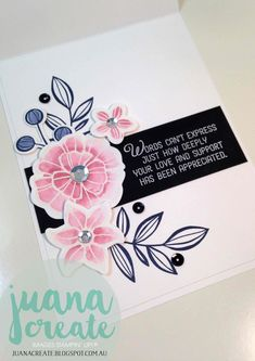 Juan Ambida Independent Stampin' Up!® Demonstrator Australia: Falling Flowers - Thank You So Very Much