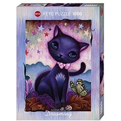 Heye Black Kitty 1000 Piece Jeremiah Ketner Jigsaw Puzzle >>> Check out this great product. (This is an affiliate link) #Puzzles