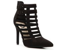 G by GUESS Dareful Bootie synthetic black suede 4h sz7.5 54.95