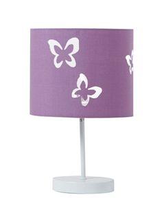 1000 images about lampe chevet petite fille on pinterest papillons lampshade ideas and lamps - Lampe de chevet violet ...