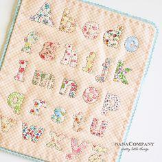 applique alphabet by nanaCompany, via Flickr