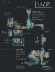 Cult of the Dark God - Part 1 : dndmaps Building Map, Map Pictures, Photos, Pathfinder Rpg, Dungeon Maps, Dark Blue Color, Us Map, Fantasy Landscape, Travel Light